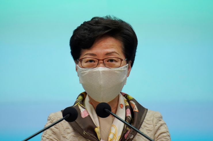 "Hong Kong leader criticizes ""double standards"" over protests"