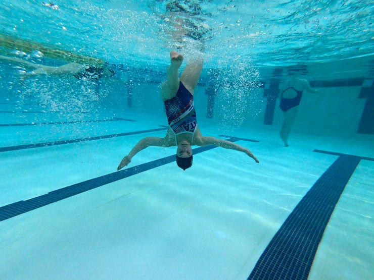 AP PHOTOS:  Down syndrome synchro team aims for Paralympics