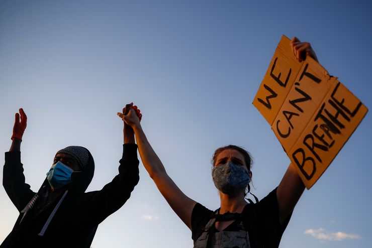 'I can't breathe' a rally cry anew for police protests in US