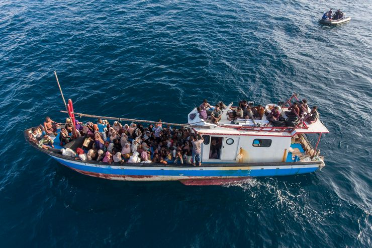 Indonesian fishermen discover 94 Rohingya adrift at sea