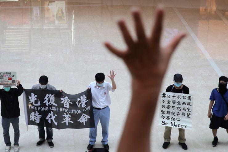 Protest in Hong Kong over China's move to pass security law
