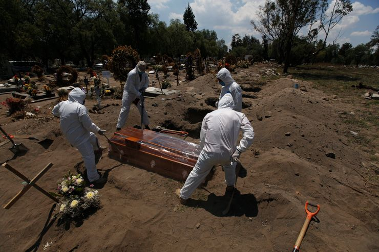 Mexican president urges calm after jump in reported deaths