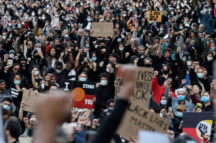 Black Lives Matter protests in Australia, Asia and Europe
