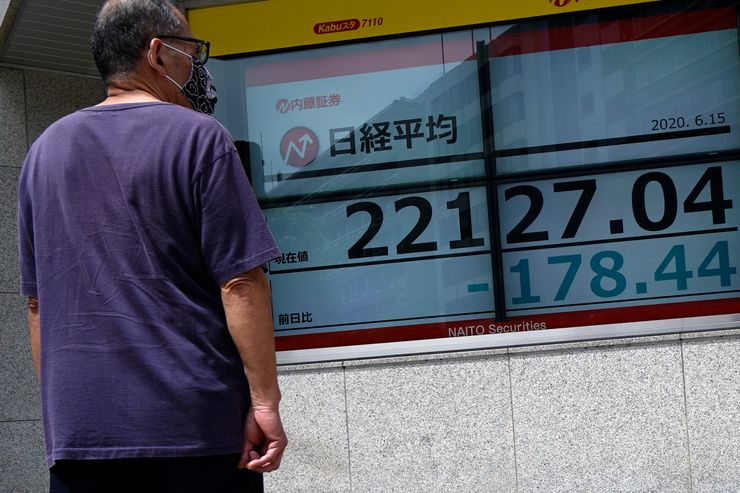 Asian shares fall on fears virus outbreaks are rebounding