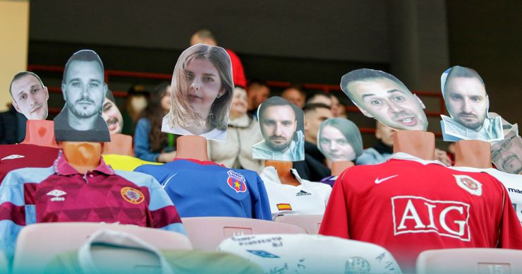 Belarusian club puts mannequins in stands as fans stay away