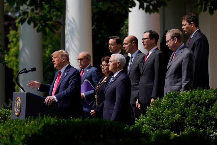 Trump hails jobs report, but unemployment rate still high