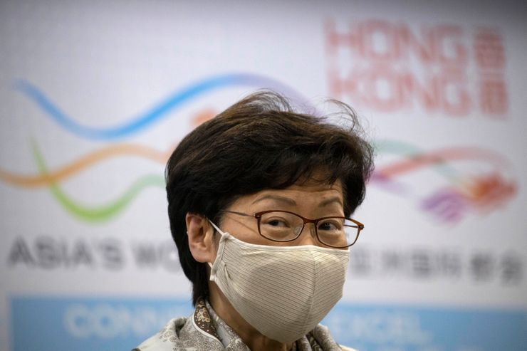 Hong Kong leader accuses foreign critics of double standards