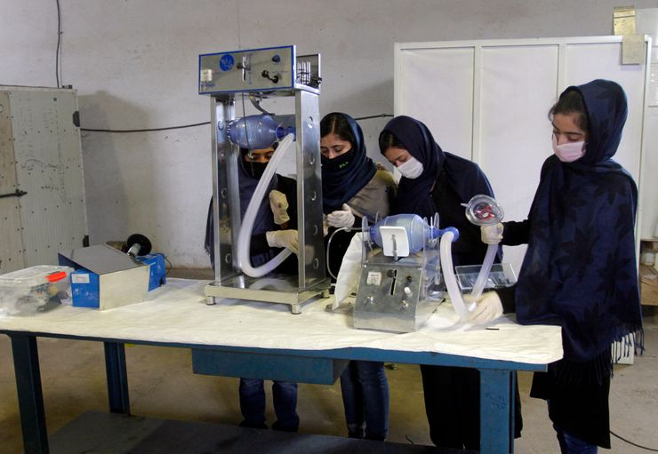 Ventilator from old car parts? Afghan girls pursue prototype