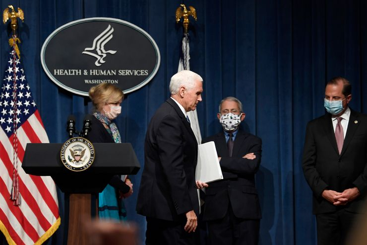 Coronavirus task force briefs — but not at White House