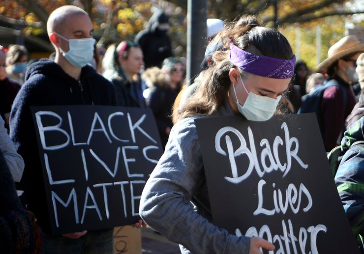 Protesters rally for black lives, remind Australia of past