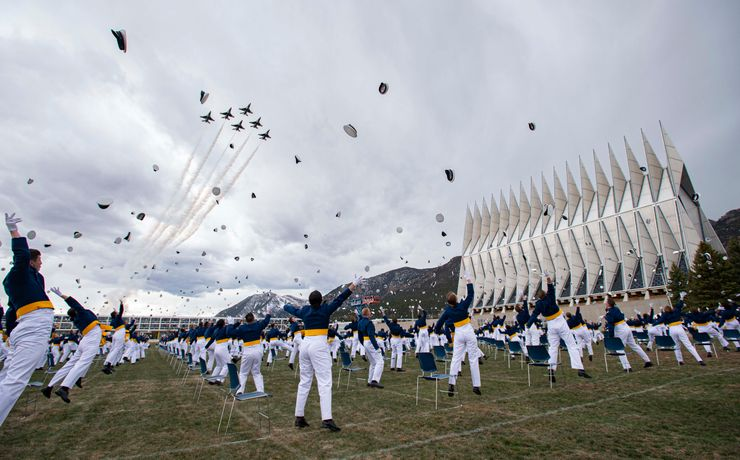 In nod to normalcy, Pence celebrates Air Force Academy grads