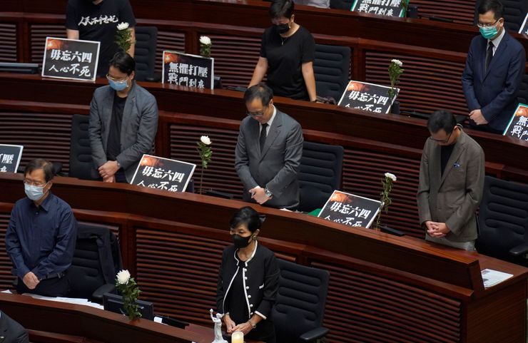 Hong Kong's legislature disrupted over national anthem bill
