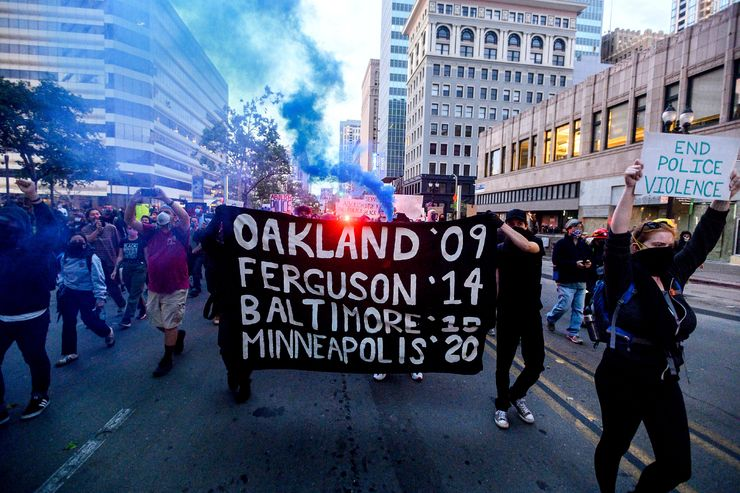 Protesters invoke different names to decry police treatment