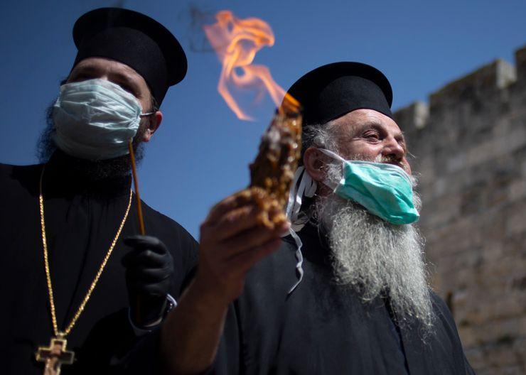 'Holy Fire' ceremony held in empty Jerusalem church