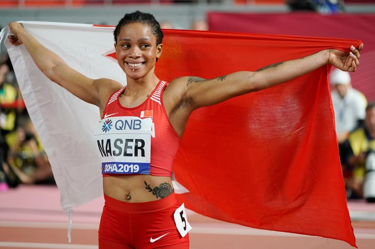 Naser was under investigation when she won world 400 gold