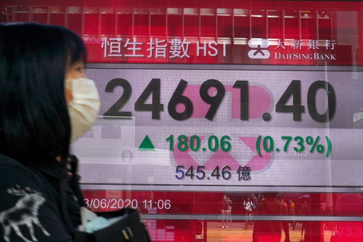 Stocks up as investors weigh data on economy, new contagions