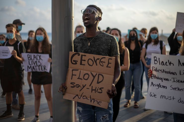 In Israel, protesters demonstrate against Floyd killing