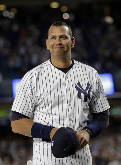 After storm halts tribute, A-Rod doubles in Yanks' finale