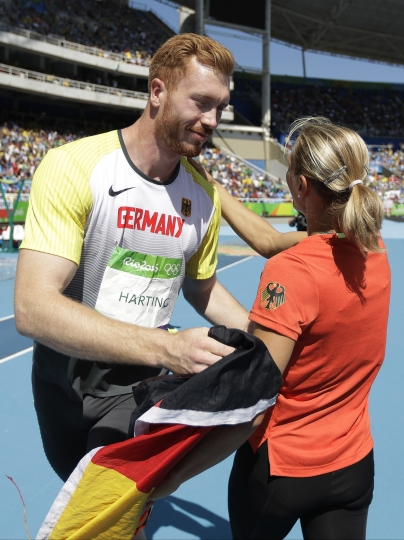The Hartings, so different, both have Olympic discus gold