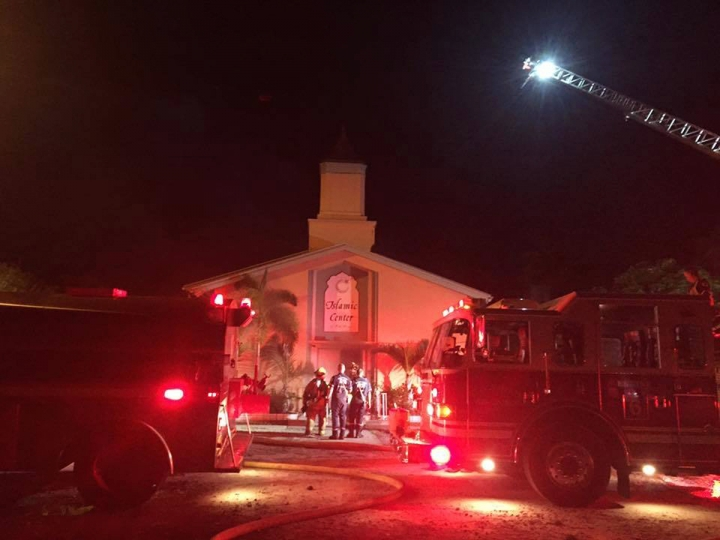 Mosque where Orlando gunman worshipped is set on fire