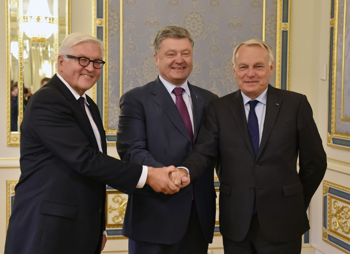 French, German ministers in Ukraine to revive peace deal