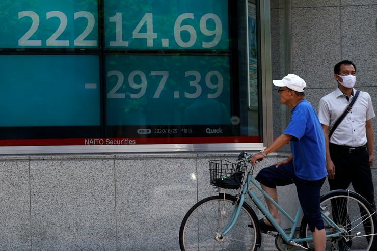 Asian shares slide, following Wall St selloff on virus fears