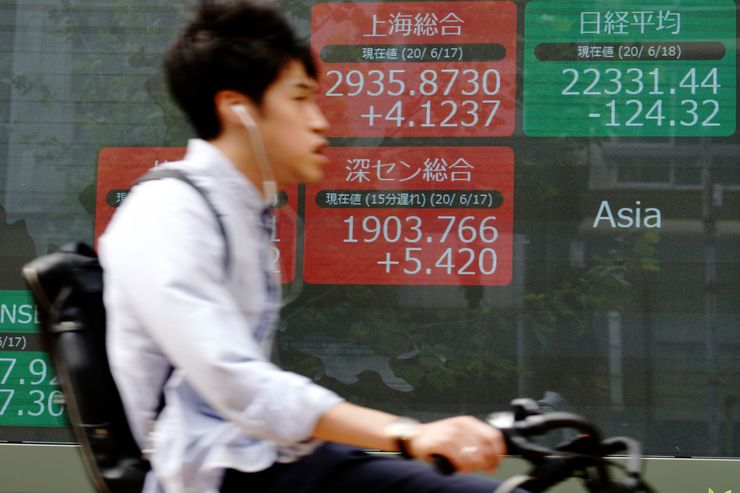 Asian shares slip as global rally eases off the accelerator