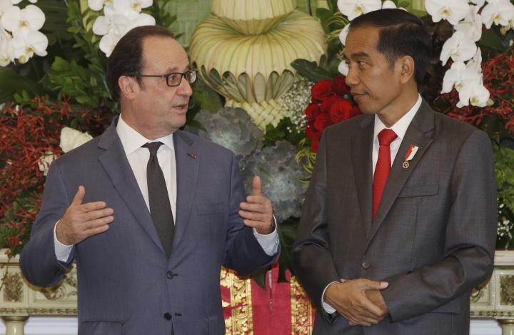 France pledges $2.6 billion for Indonesia as Hollande visits