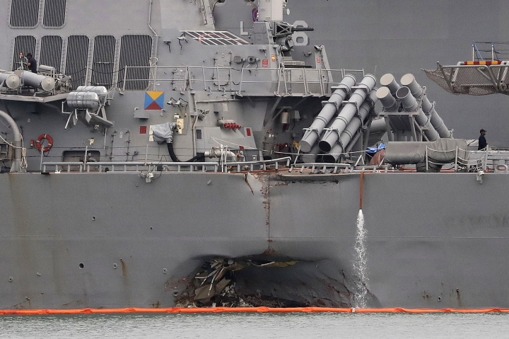 Divers find remains of all missing from USS McCain collision