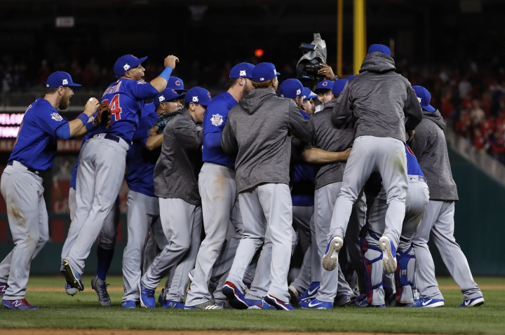 Cubs get to Scherzer, then hold on to top Nats 9-8 in Game 5