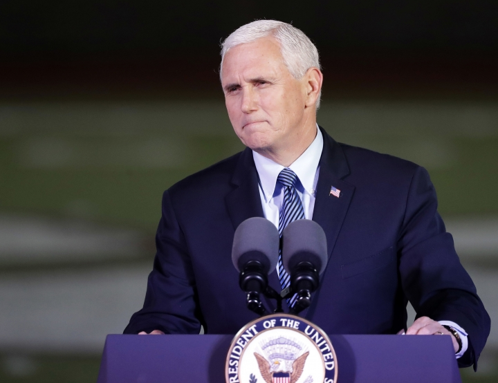 The Latest: Pence says Trump, GOP governors have 'momentum'
