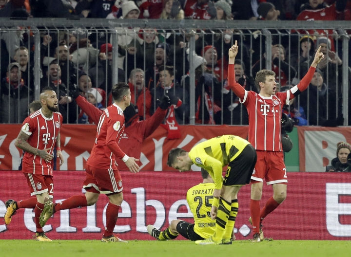 Bayern beats defending champ Dortmund 2-1 in German Cup