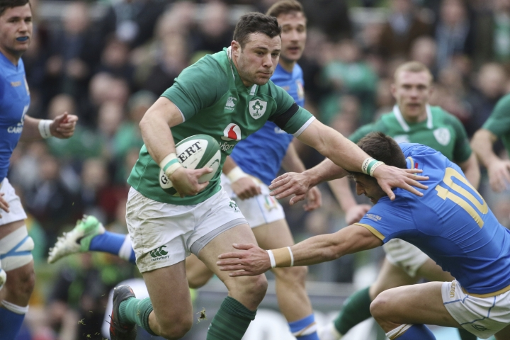 Ireland center Henshaw to miss rest of Six Nations